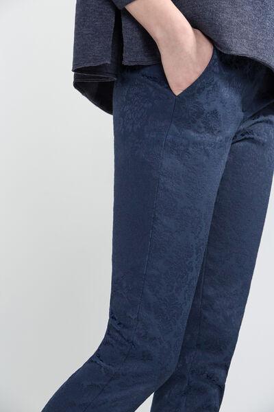 Pantalón recto brocado