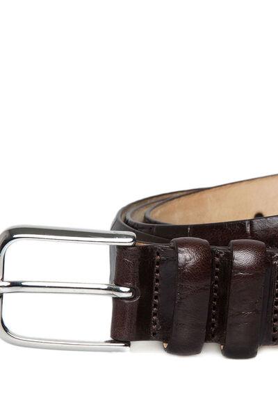 Cinturón grabado coco vestir