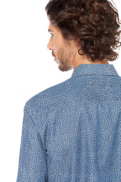 Camisa chambray printed