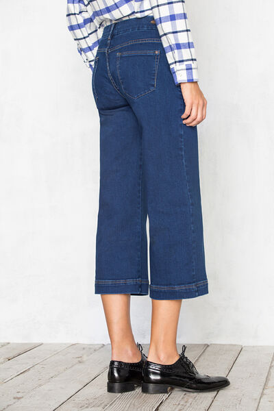 Pantalón denim culotte