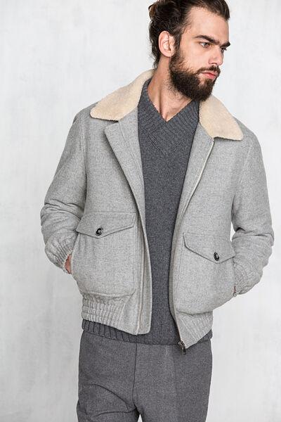 Cazadora de lana