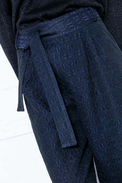 Pantalón jacquard culotte