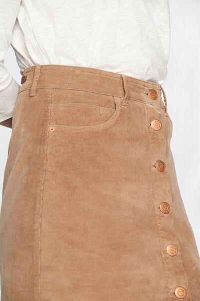 Falda pana botones