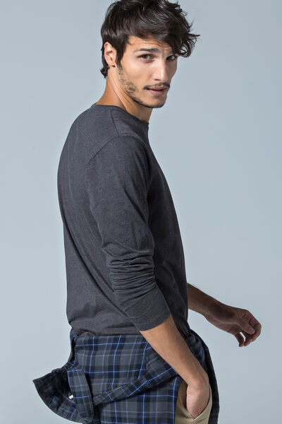 Camiseta básica manga larga