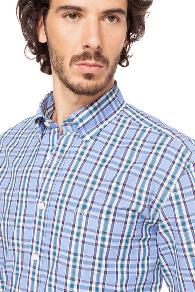 Camisa sport popelín cuadros