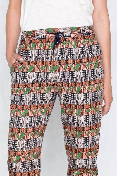Pantalones estampados fluidos
