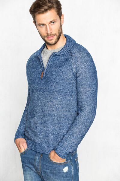 Jersey cuello shawl y cremallera
