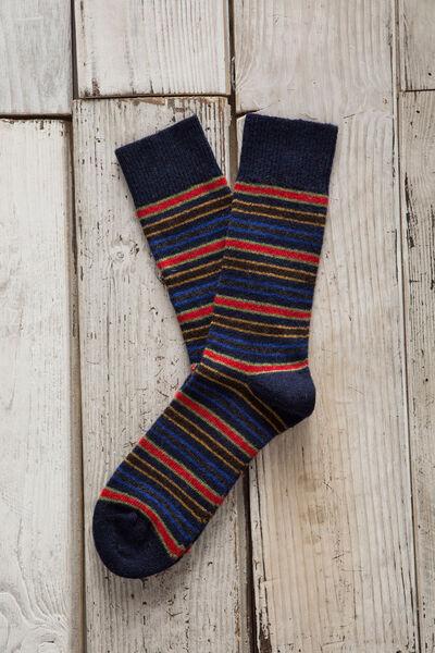 Calcetín lana rayas