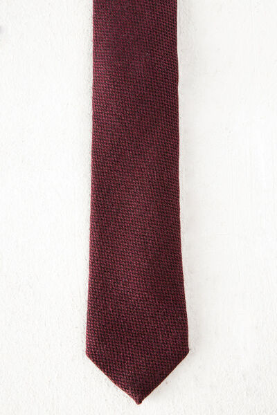 Corbata de lana lisa