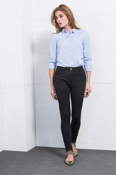 Pantalón skinny jaquard