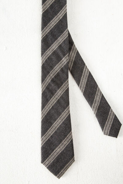 Corbata lana rayas