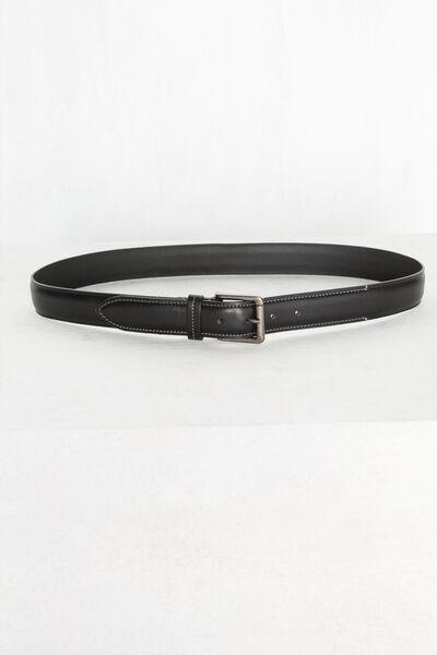 Cinturón liso piel sport