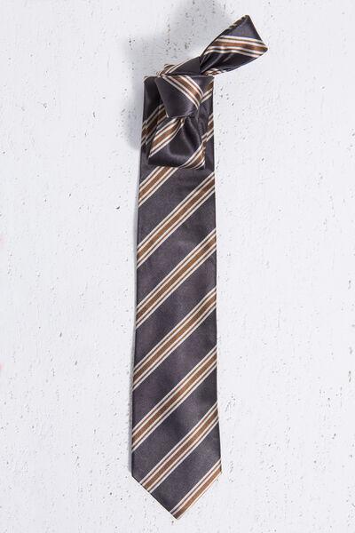 Corbata de seda natural de rayas