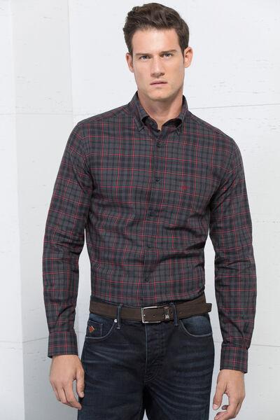 Camisa twill de cuadros
