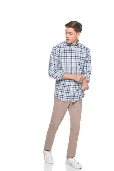 Camisa de cuadros lino