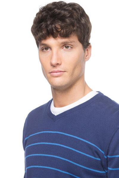 Jersey cuello pico algodón