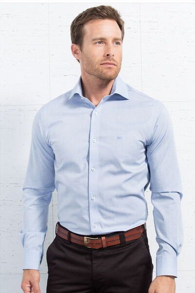 Camisa de vestir jacquard fil a fil