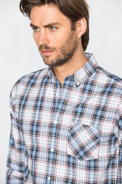 Camisa oxford tartán