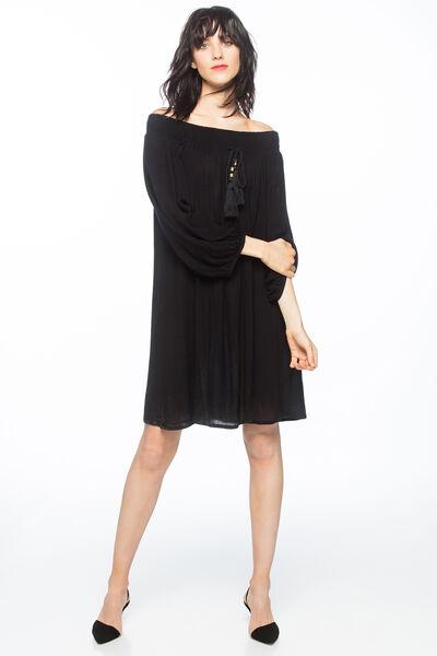 Vestido mesonero borlón