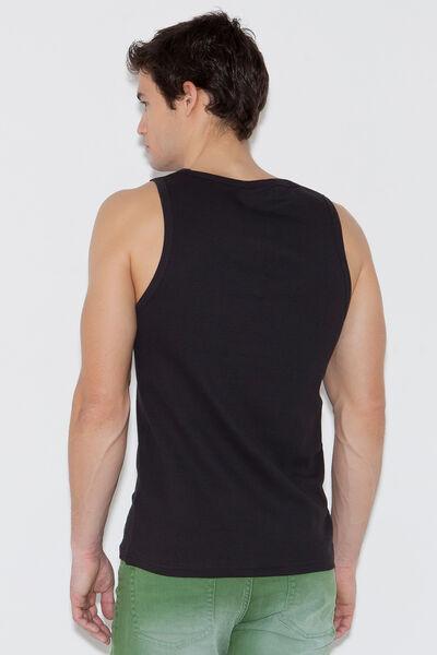Camiseta tank top canalé