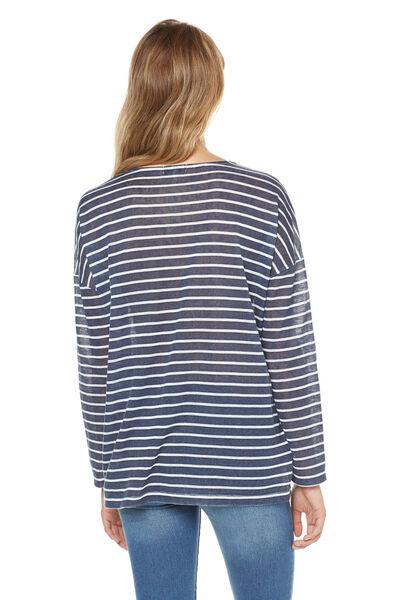 camiseta rayas lace
