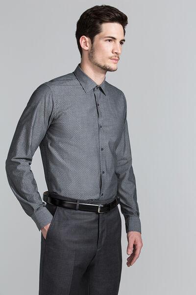 Camisa estampada gris