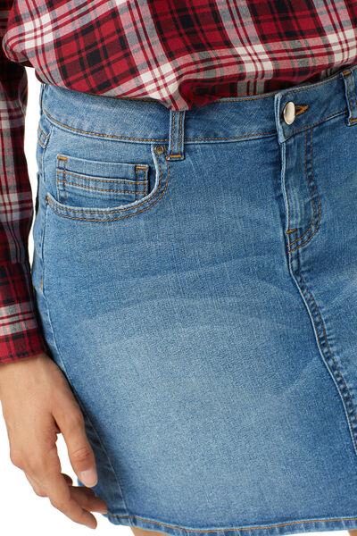 falda denim básica