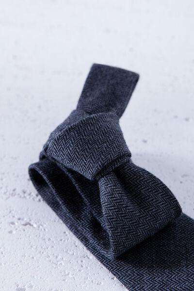 Corbata lana lisa bicolor