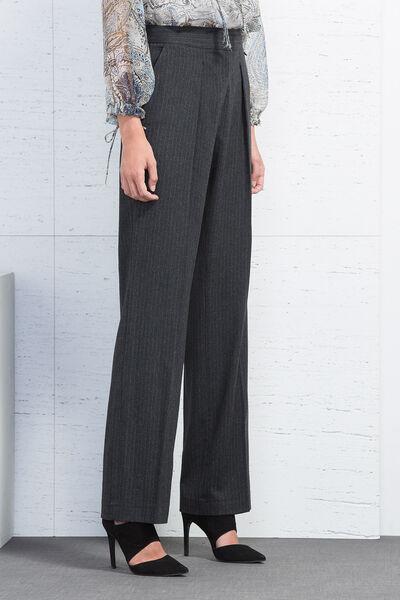 Pantalón traje recto raya diplomatica
