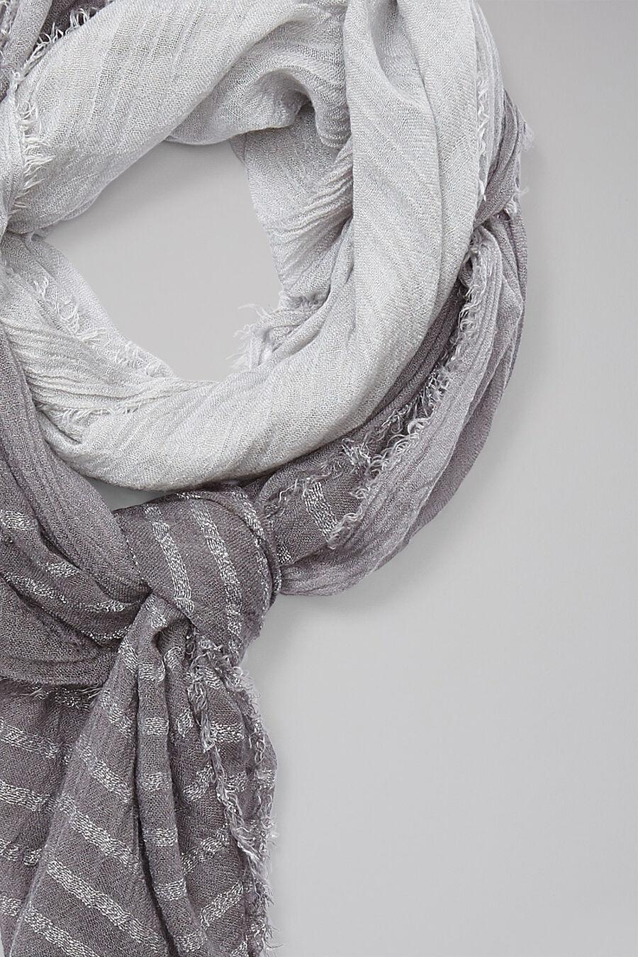Striped lurex scarf