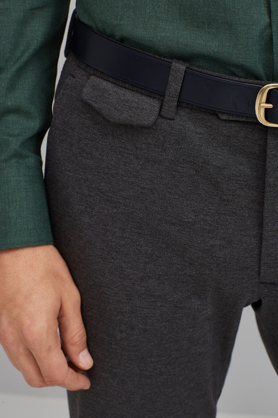 Pique chino trousers