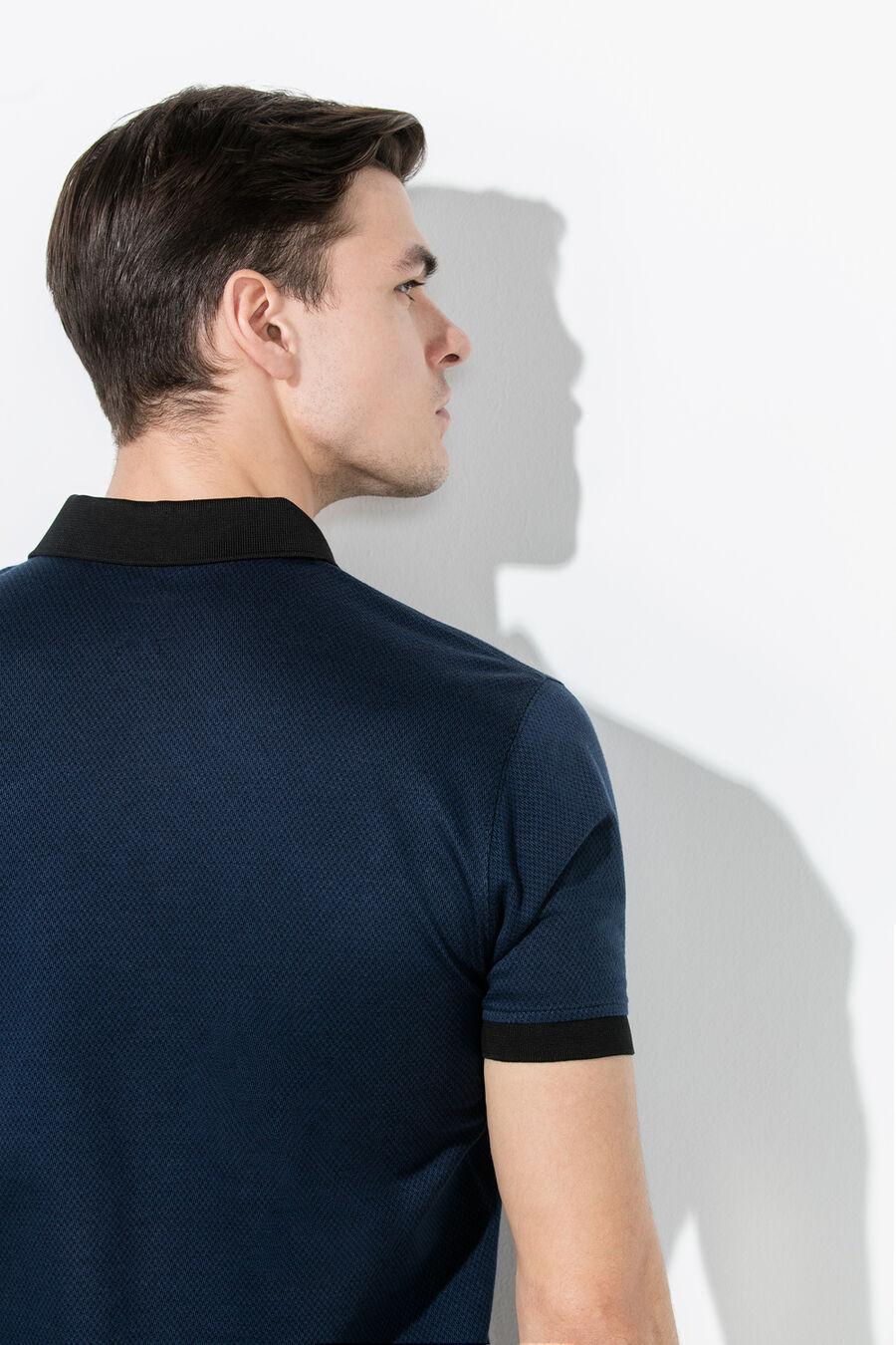 Jacquard polo shirt