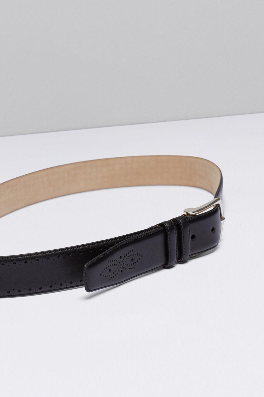 Punched plain belt