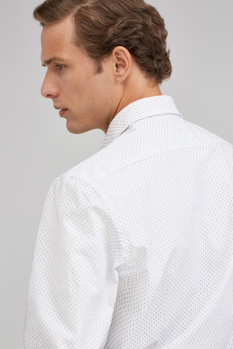 Slim jacquard shirt