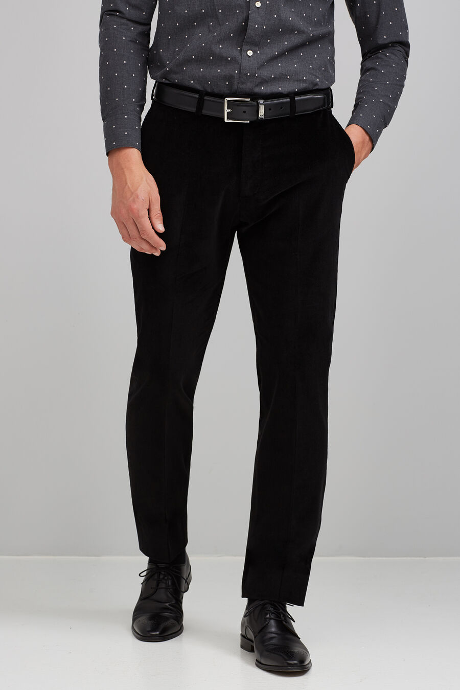 Micro corduroy trousers