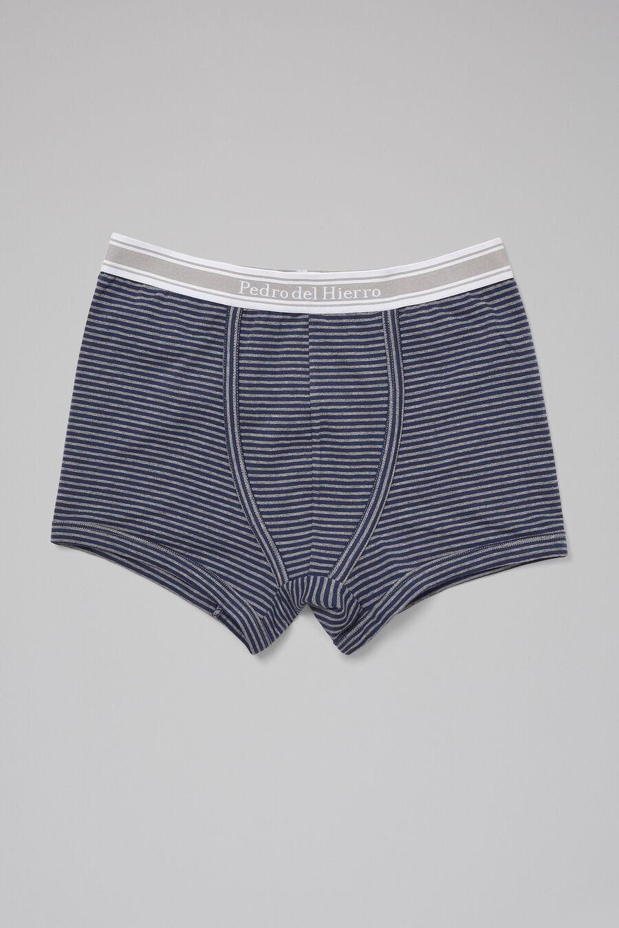 Micro stripe cotton boxers