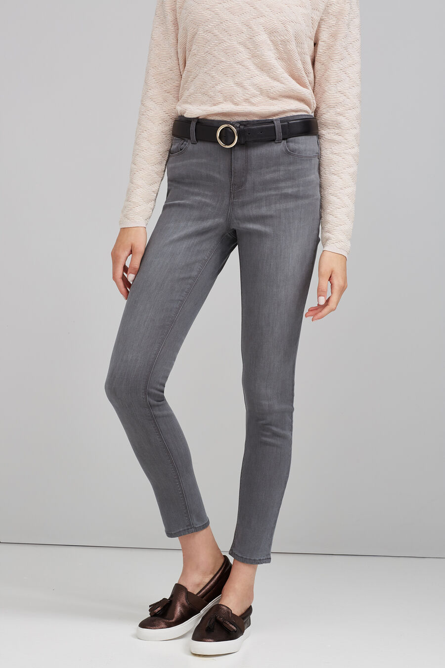 Slim denim trousers