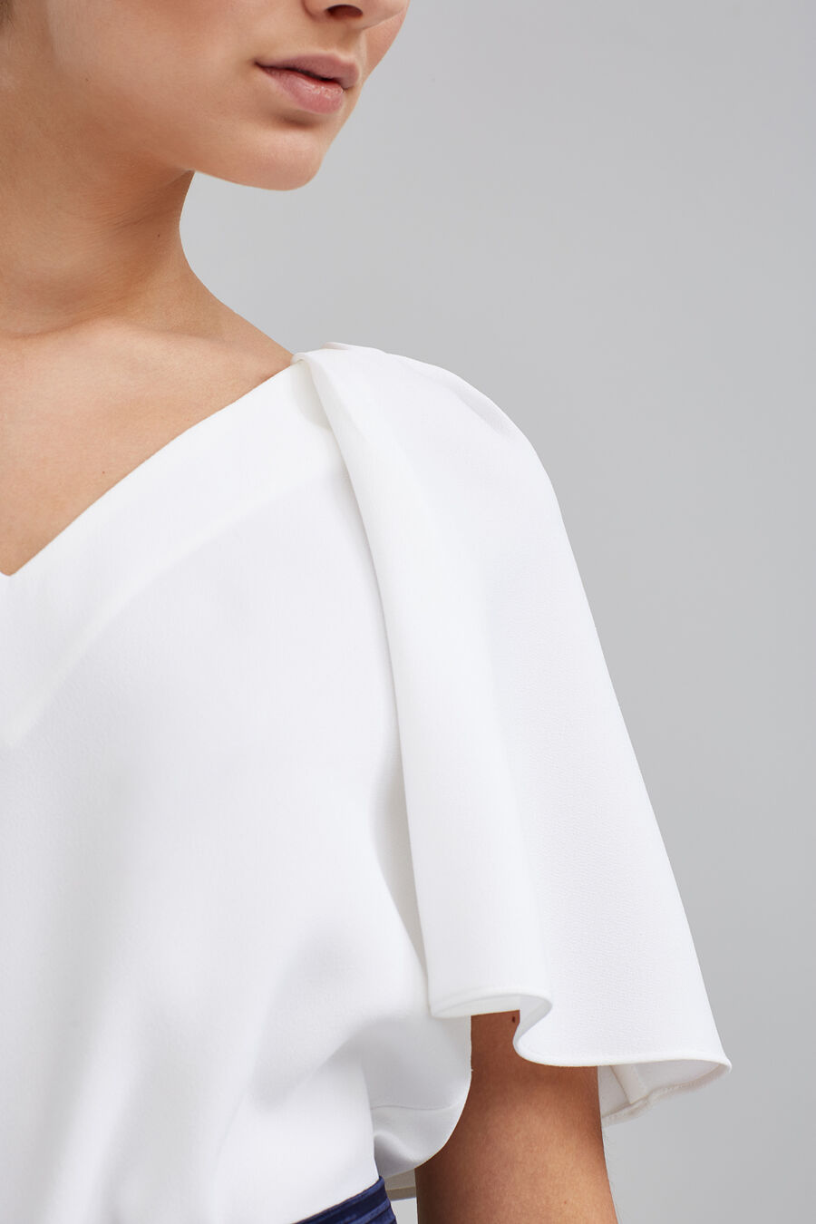 V-neck cape top