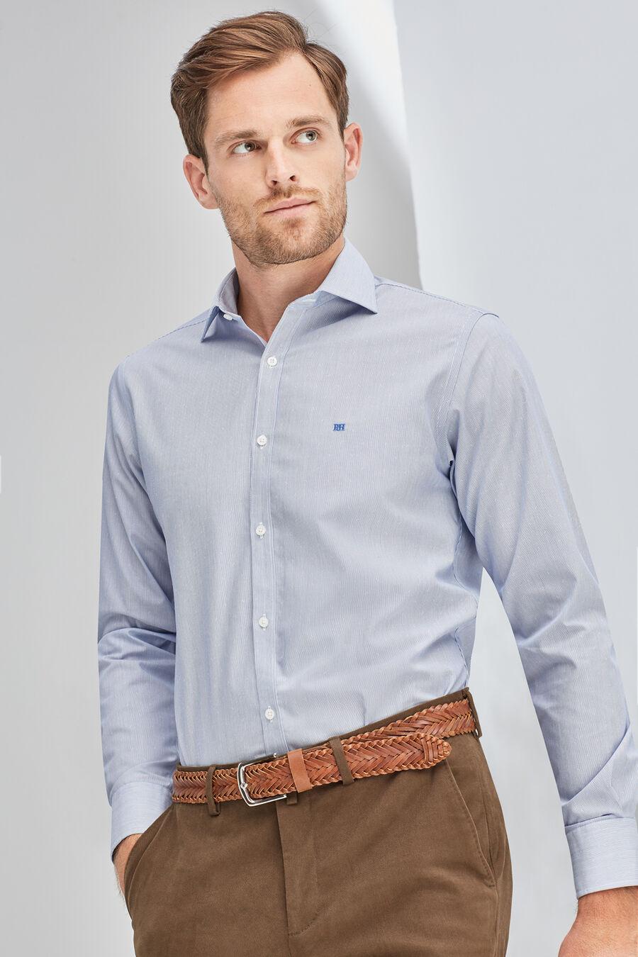 Non-iron striped shirt