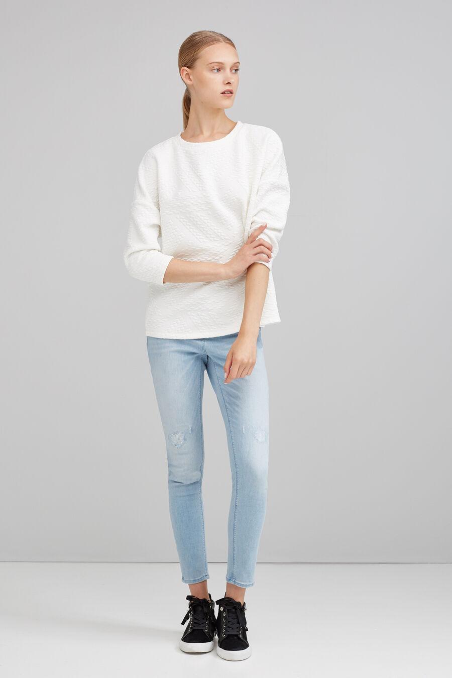Braided structured sweatshirt