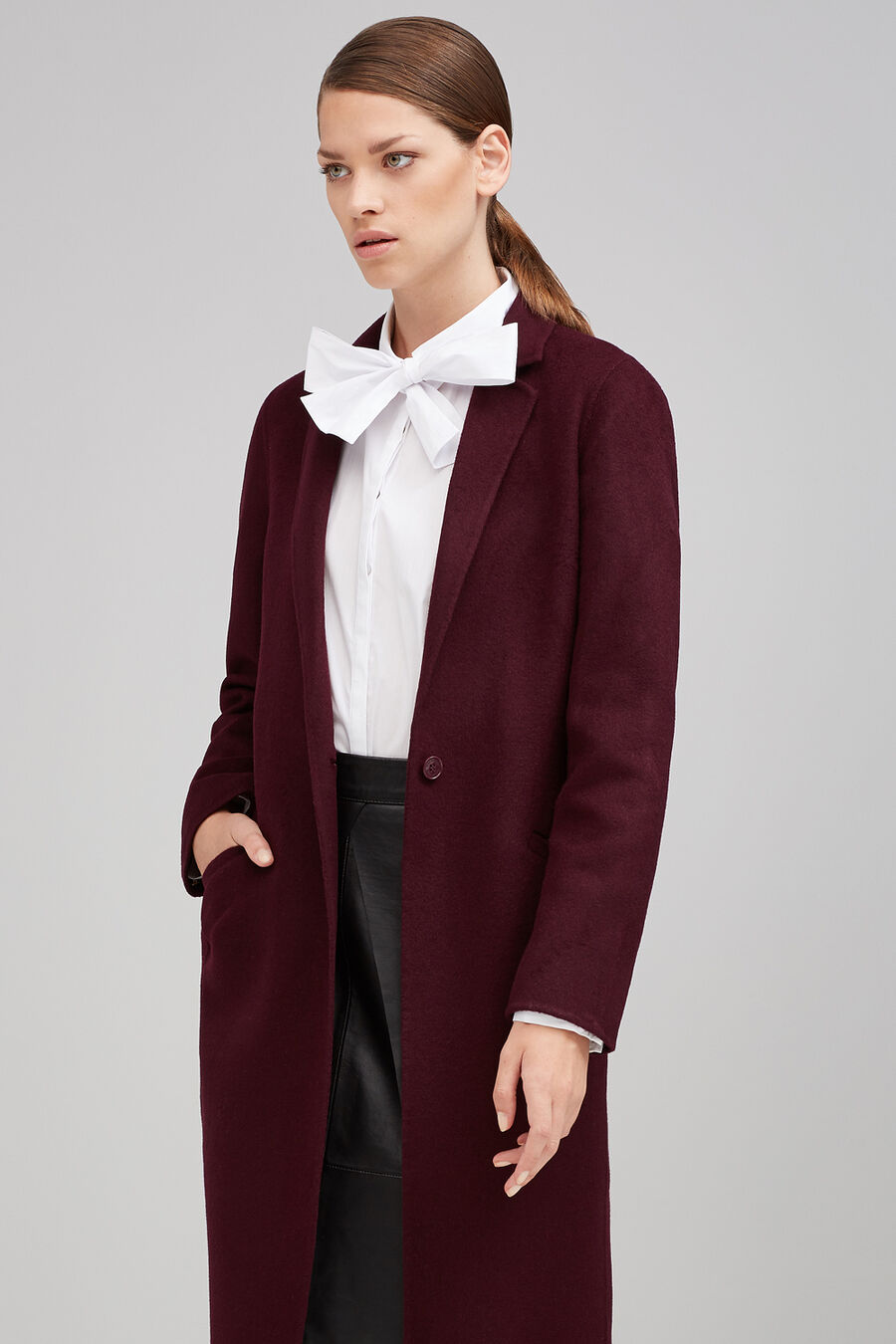 Double-faced long coat