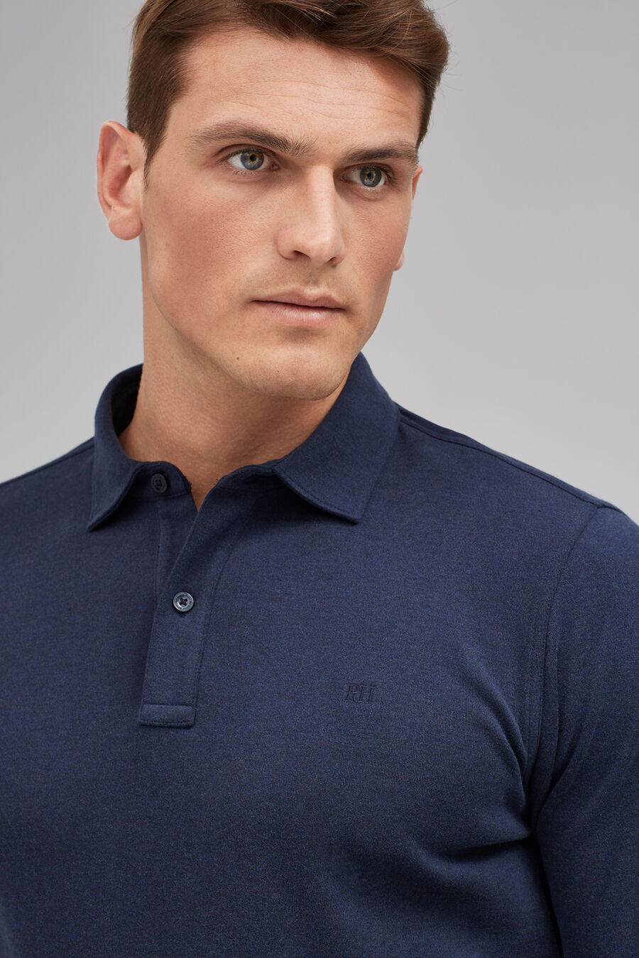 Tailored fit interlock polo shirt