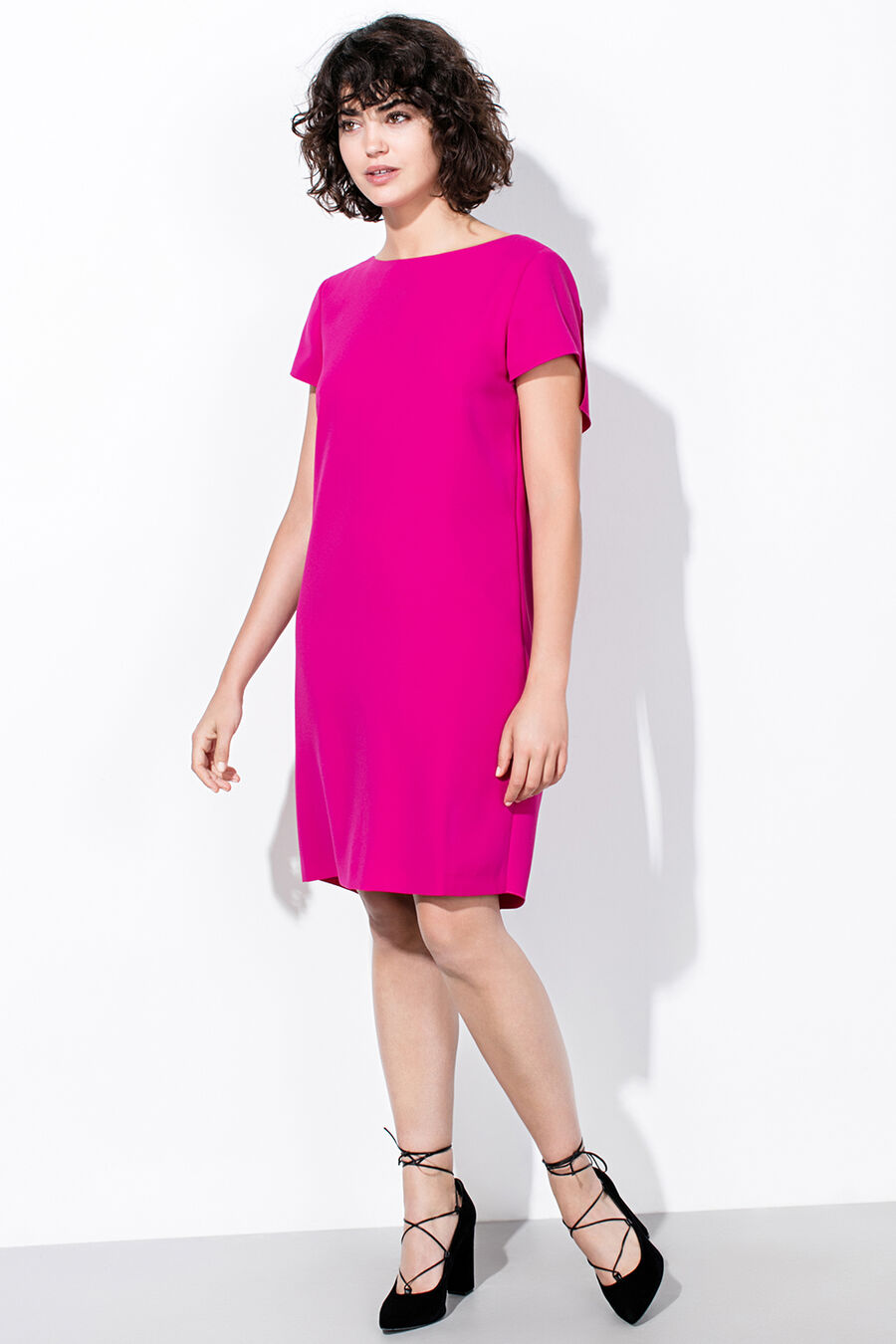 Tunic dress with flounces