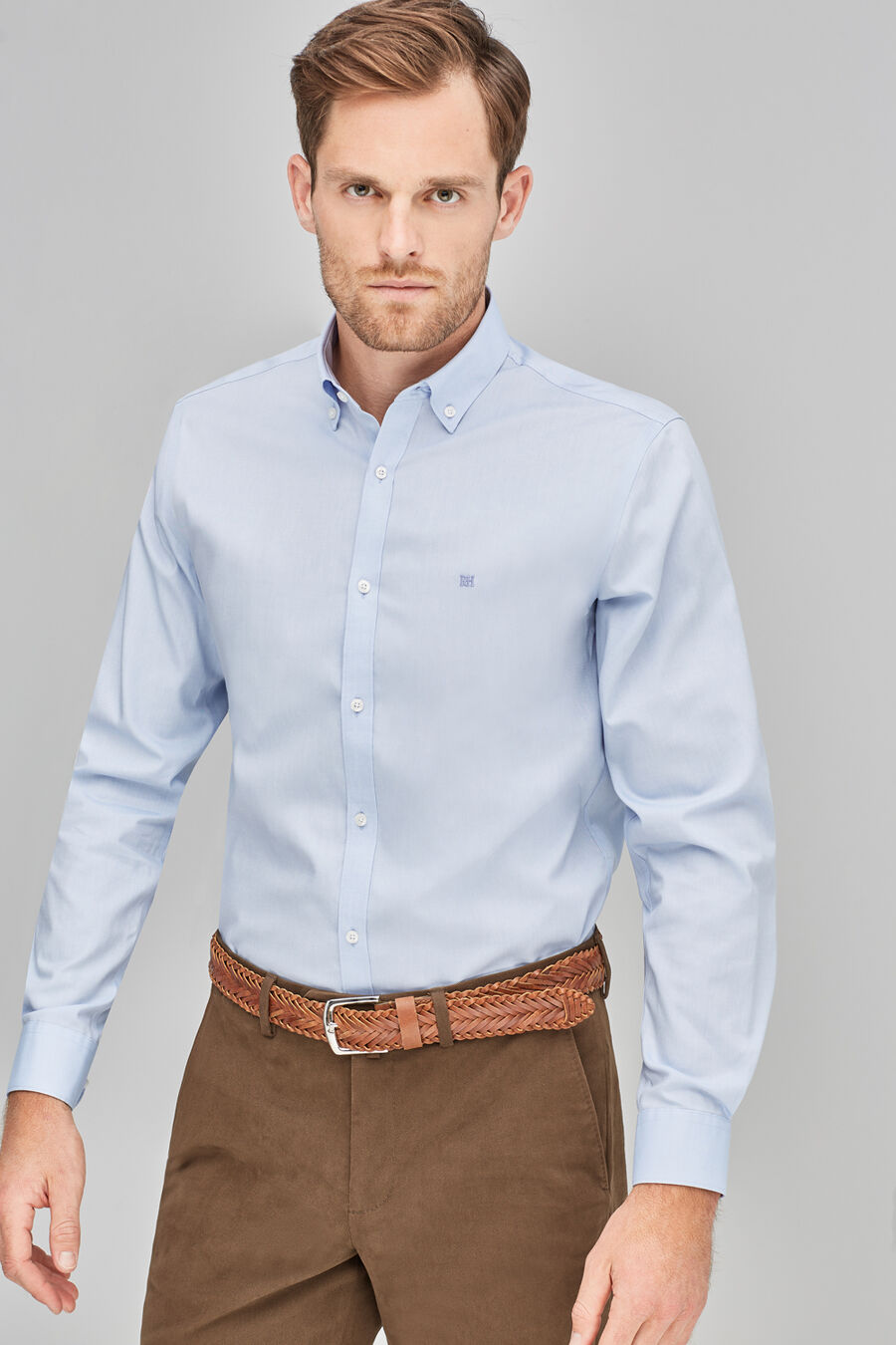 Non-iron pinpoint shirt