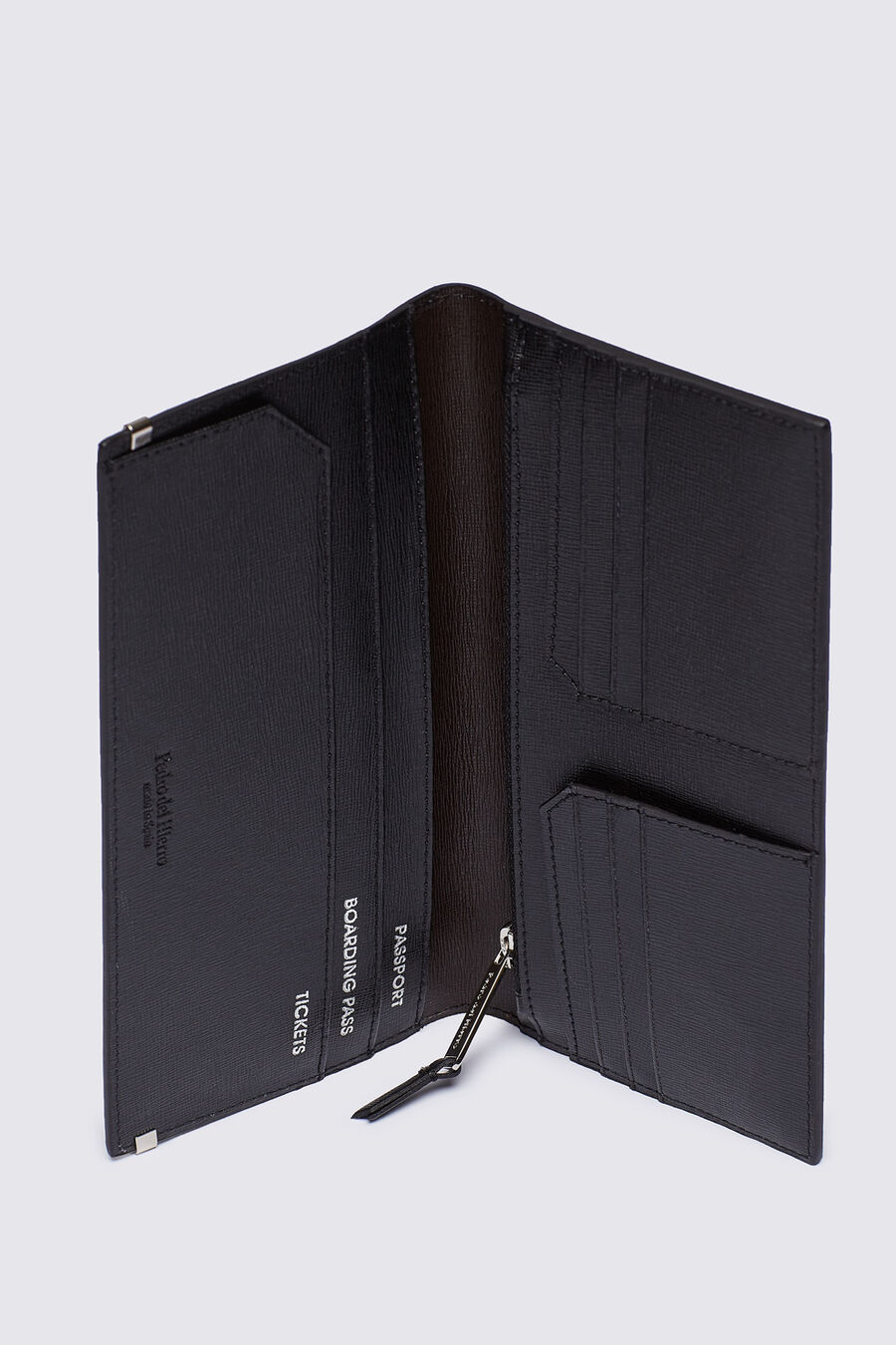 Saffiano travel wallet