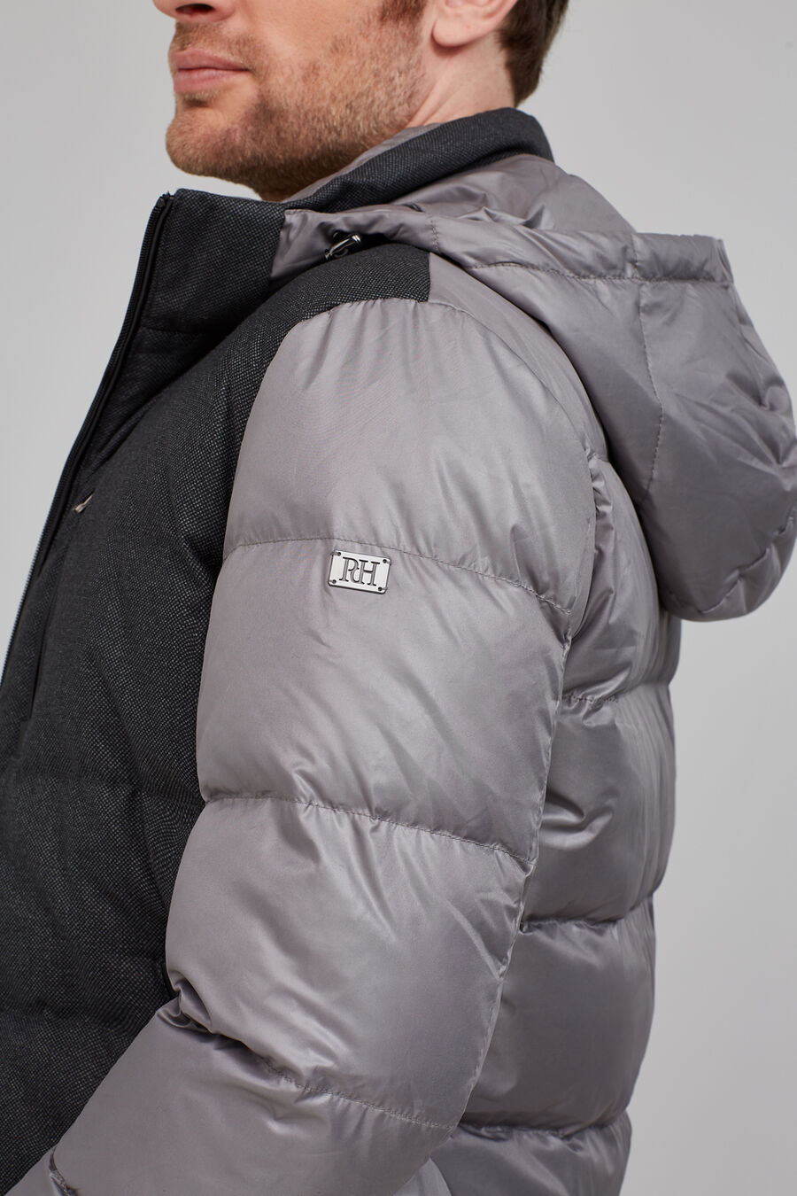 Combined down jacket
