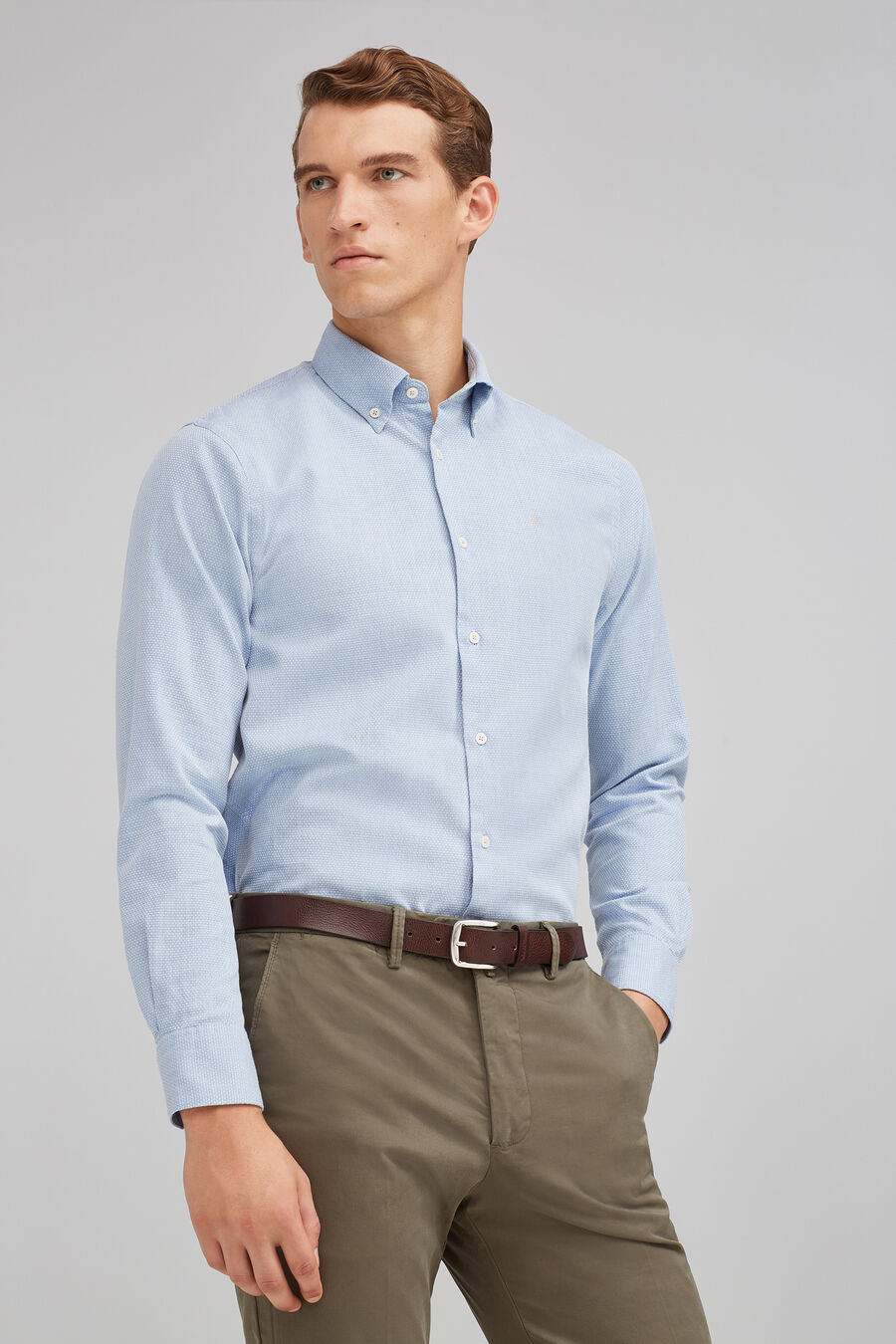 Indigo structured shirt
