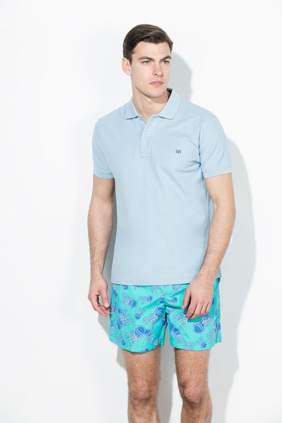 Jellyfish print swim shorts