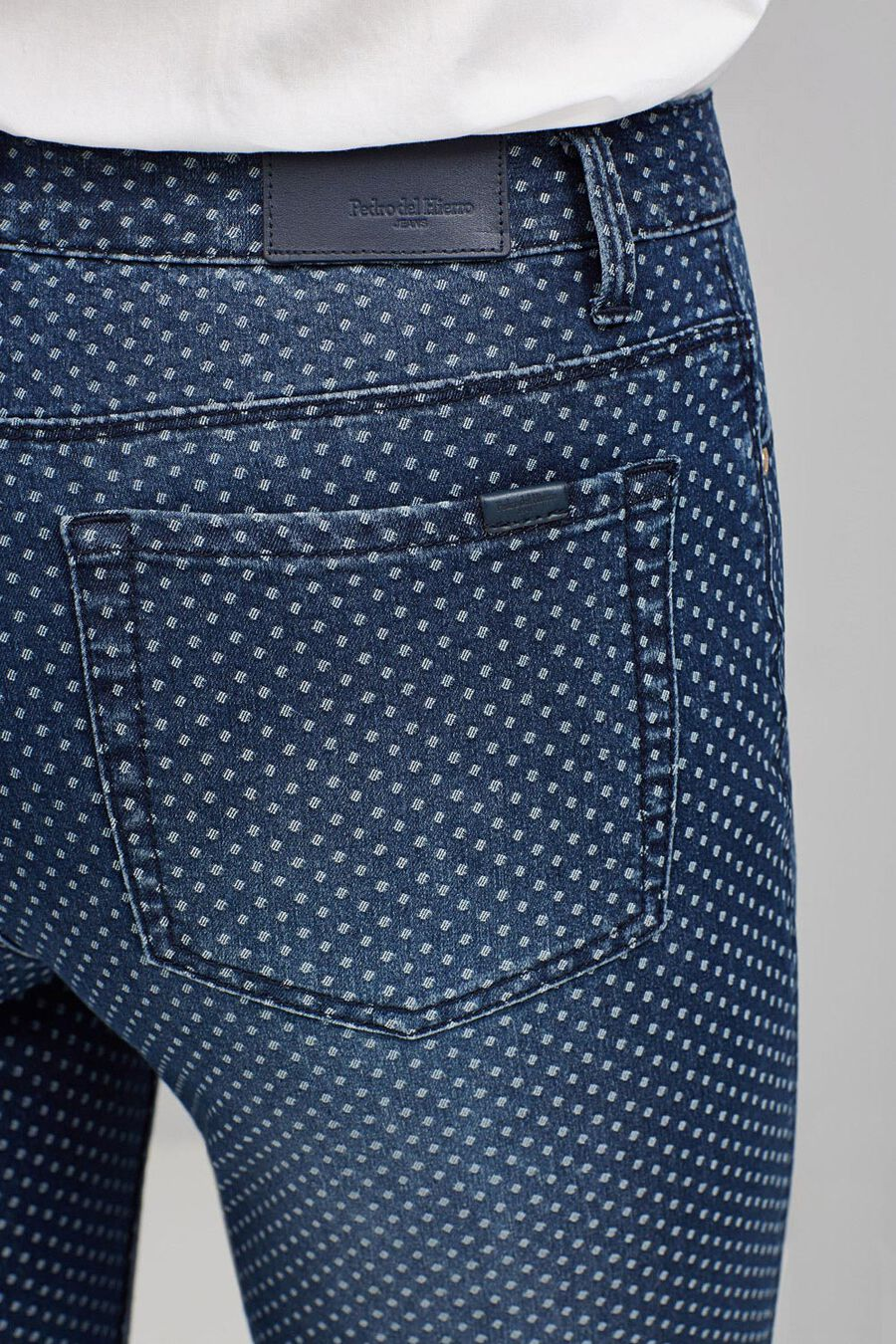 Jacquard skinny denim trousers