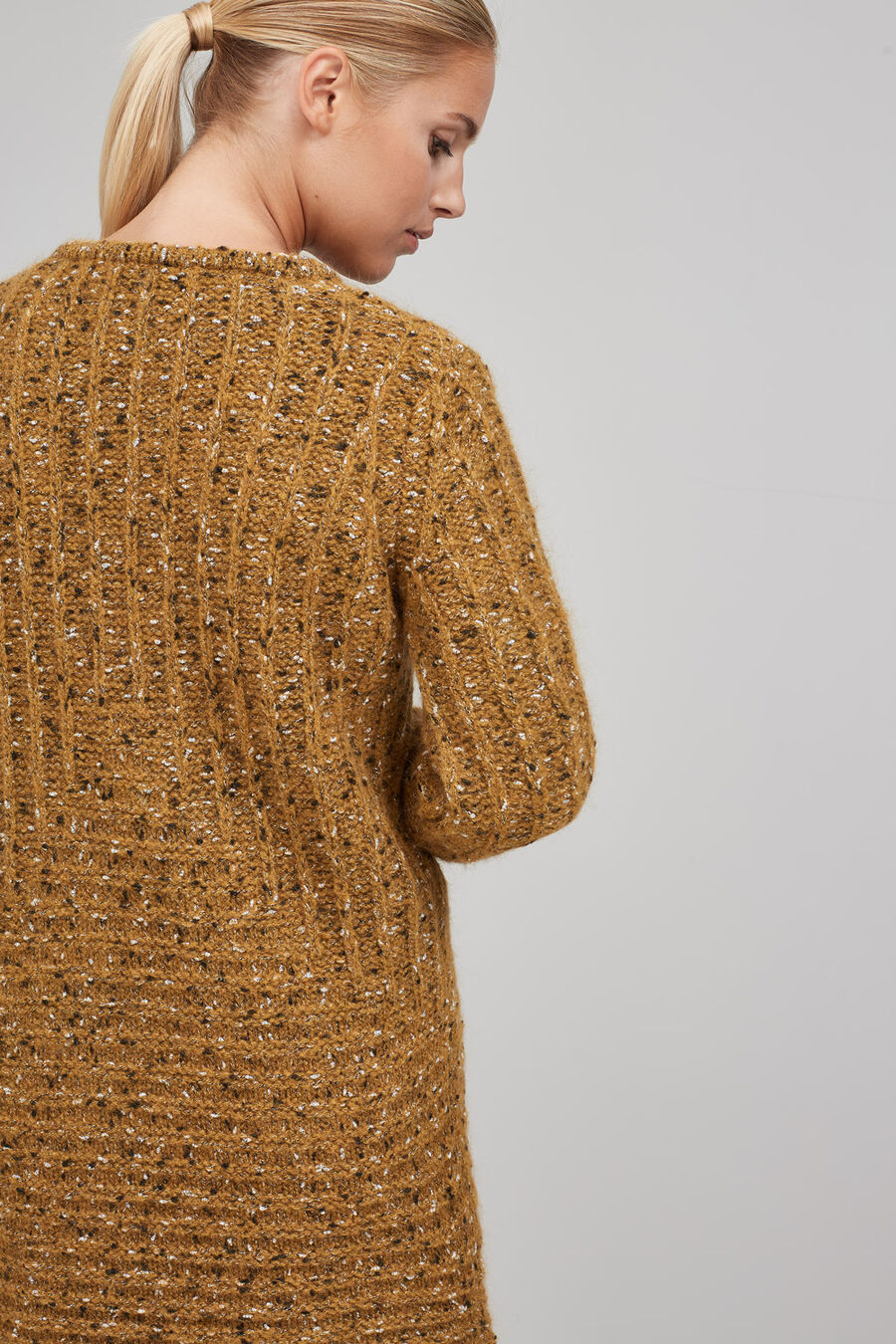 Fancy mustard cardigan